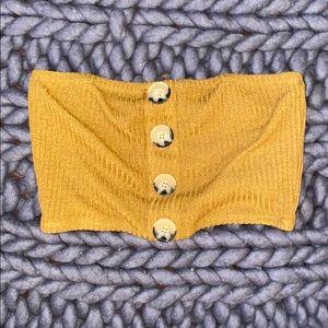 Button up bandeau top